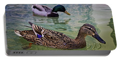 Portable Battery Charger featuring the photograph The Mallard Pair by Mary Machare