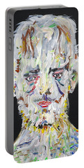 Portable Battery Charger featuring the painting The Man Who Tried To Become A Mountain by Fabrizio Cassetta