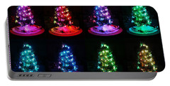 The Many Moods Of Christmas Trees Portable Battery Charger by Denise Fulmer