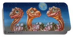 The March Of Lunar Turtles Portable Battery Charger