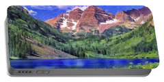 The Maroon Bells Portable Battery Charger by Dominic Piperata