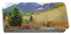 Portable Battery Charger featuring the photograph The Maroon Bells Reimagined 3 by Eric Glaser