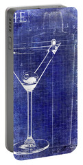 The Martini Patent Blue Portable Battery Charger