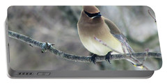 The Masked Cedar Waxwing Portable Battery Charger