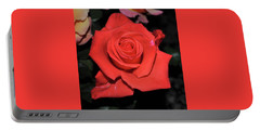 The Meaning Of A Red Rose Portable Battery Charger by Jay Milo
