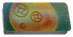 Portable Battery Charger featuring the painting The Mechanical Universe by Robert Margetts