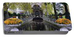 The Medici Fountain At The Jardin Du Luxembourg In Paris France. Portable Battery Charger by Richard Rosenshein