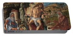 The Meditation On The Passion Portable Battery Charger by Vittore Carpaccio