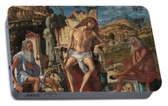 Portable Battery Charger featuring the painting The Meditation On The Passion by Vittore Carpaccio