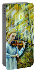 The Melody Of Autumn Portable Battery Charger by Anna Duyunova
