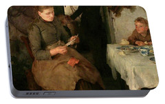 Portable Battery Charger featuring the painting The Message by Henry Scott Tuke