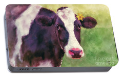 Portable Battery Charger featuring the photograph The Milk Maid by Lois Bryan