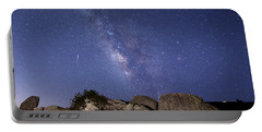 The Milky Way And A Meteor Portable Battery Charger