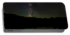 Portable Battery Charger featuring the photograph The Milky Way At Sprague Lake by Tim Stanley