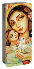 Portable Battery Charger featuring the painting The Miracle Of Love by Eva Campbell