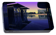 Portable Battery Charger featuring the photograph The Modern, Fort Worth, Tx by Ricardo J Ruiz de Porras