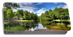 Portable Battery Charger featuring the photograph The Moose River At Covewood by David Patterson