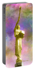 Portable Battery Charger featuring the painting The Morning Breaks by Greg Collins