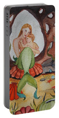 Portable Battery Charger featuring the painting The Most Precious Treasure by Virginia Coyle