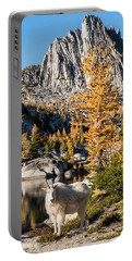 The Mountain Goat In The Enchantments Portable Battery Charger