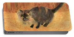 The Mouser, Barn Cat Watercolor Portable Battery Charger