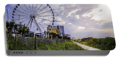 The Myrtle Beach, South Carolina Skywheel At Sunrise. Portable Battery Charger