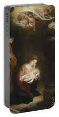 The Nativity With The Annunciation To The Shepherds Beyond Portable Battery Charger