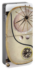 Portable Battery Charger featuring the painting The Navigator by Michal Mitak Mahgerefteh
