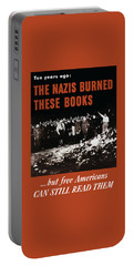 The Nazis Burned These Books Portable Battery Charger