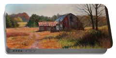 The Neighbor's Barn Portable Battery Charger by Bonnie Mason