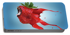 Portable Battery Charger featuring the photograph The New Gmo Strawberry by Juli Scalzi