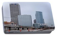 Portable Battery Charger featuring the photograph The New Milwaukee Skyline by Randy Scherkenbach