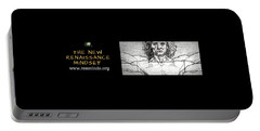 Portable Battery Charger featuring the digital art The New Renaissance Mindset Banner by Mario MJ Perron