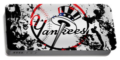 The New York Yankees 1b Portable Battery Charger by Brian Reaves