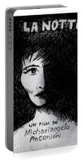 The Night - La Notte Movie Poster Portable Battery Charger