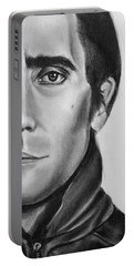 Nightcrawler Movie Art Drawing - Jake Gaalynhaal Charcoal Pencil Drawing - Ai P. Nilson Portable Battery Charger