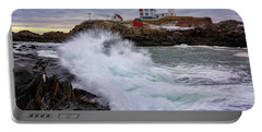 Portable Battery Charger featuring the photograph The Nubble After A Storm by Rick Berk