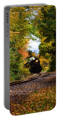The Number 40 Rounding The Bend Portable Battery Charger by Jeff Folger