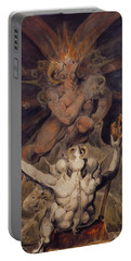 The Number Of The Beast Is 666 Portable Battery Charger by William Blake
