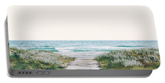 The Ocean Is Calling And I Must Go  Portable Battery Charger by Uma Gokhale