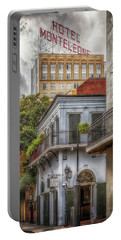 Portable Battery Charger featuring the photograph The Old Absinthe House by Susan Rissi Tregoning