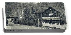 Portable Battery Charger featuring the photograph The Old Barn by Mark Dodd