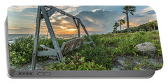 The Old Beach Swing -  Sullivan's Island, Sc Portable Battery Charger