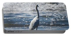 Egret And The Waves Portable Battery Charger