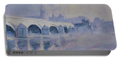 The Old Bridge In Morning Fog Maastricht Portable Battery Charger