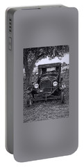 Portable Battery Charger featuring the digital art The Old Car by Bonnie Willis