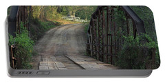 Portable Battery Charger featuring the photograph The Old Country Bridge by Kim Henderson