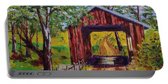 The Old Covered Bridge Portable Battery Charger by Mike Caitham