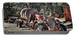 The Old Jalopy In Wine Country, California  Portable Battery Charger