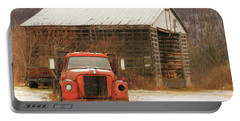 Portable Battery Charger featuring the photograph The Old Lumber Truck by Lori Deiter